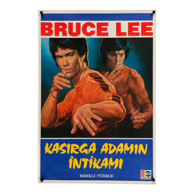 Original Turkish Bruce Lee Poster 1970s For Sale