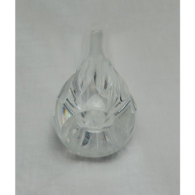 Transparent Baccarat Crystal Bud Vase For Sale - Image 8 of 9