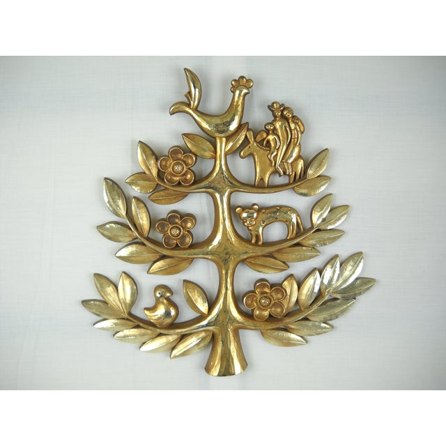 """Syroco Vintage """"Tree of Life"""" Plaque - Image 4 of 8"""