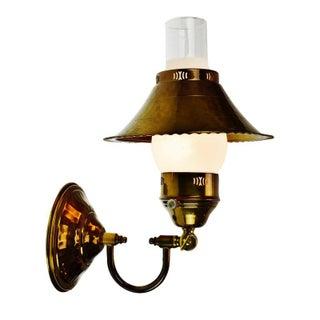 Vintage Brass Adjustable Desk Lamp or Wall Sconce For Sale