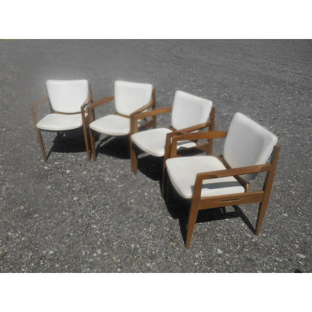 Vintage Thonet Mid-Century Modern 1960's Set of 4 Dining / Side Arm Chairs AGE/COUNTRY OF ORIGIN: Approx 60 years, America...