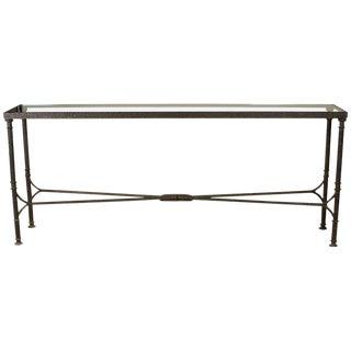 Bronze & Glass Console Table