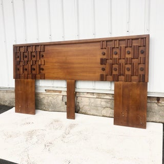 Mid-Century Modern King Size Headboard After Paul Evans Preview
