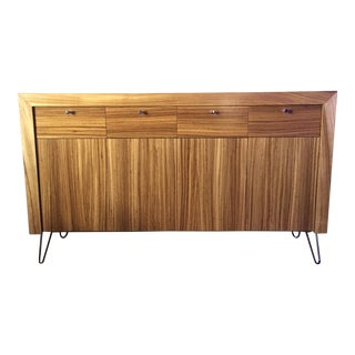 Mahogany Mid-Century Modern Style Sideboard Credenza With Hairpin Legs For Sale