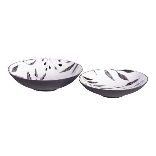 Kenneth Ludwig Chicago Leaf Serving Bowls - Set of 2 For Sale