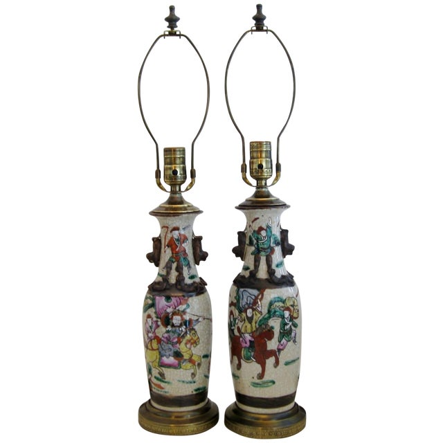 Chinese Porcelain Lamps, A Pair - Image 1 of 5