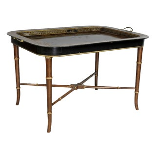 Regency Papier Mâché Tray Top Coffee Table For Sale