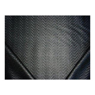 Ralph Lauren Wicker Park Embossed Black Vinyl/ Leatherette Upholstery Fabric - 11-3/8y For Sale