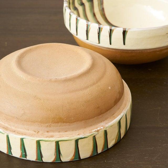 Arts & Crafts European Handglazed Bowls- Set of 3 For Sale - Image 3 of 5