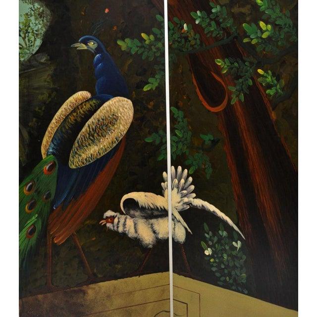Ornate Landscape Four Panel Screen - Image 3 of 4