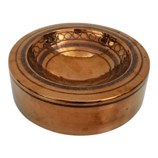 Italian Round Ceramic Ashtray For Sale