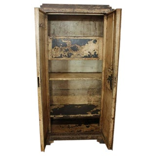 Early 20th C. Antique French Metal Cabinet For Sale