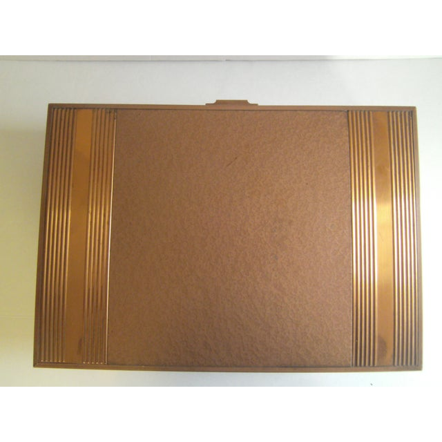 1940s Copper Enameled Metal on Wood Boxes - A Pair - Image 8 of 11