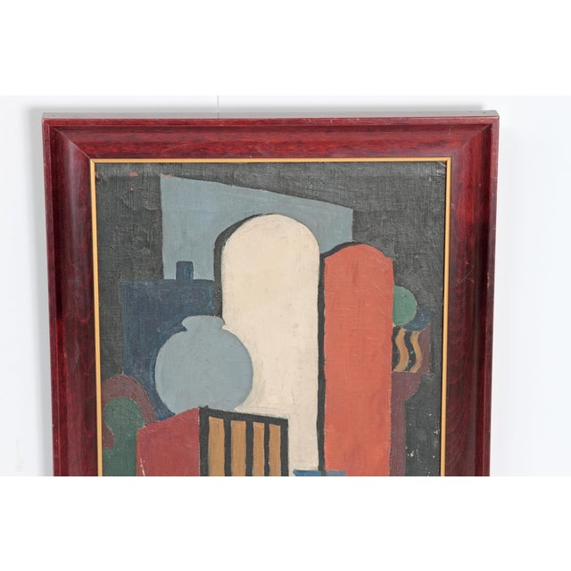 20th Century American Abstract Still Life by Flora Scofield, Oil on Canvas For Sale In Dallas - Image 6 of 12