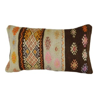 12''x20'' Embroidered Natural Color Pillow Cover, Euro Sham Outdoor Pillow Case For Sale