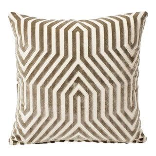 Schumacher Double-Sided Pillow in Vanderbilt Velvet Print