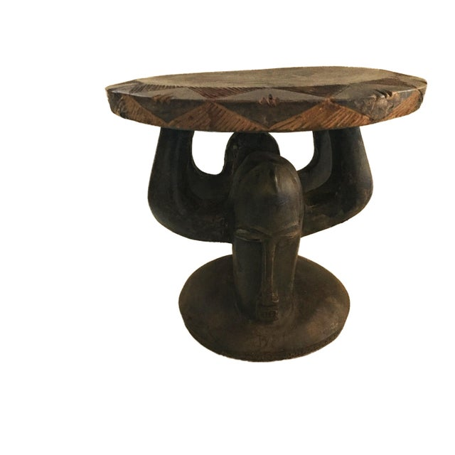 """Superb African Baga Low Stool Guinea 12"""" H For Sale - Image 12 of 12"""