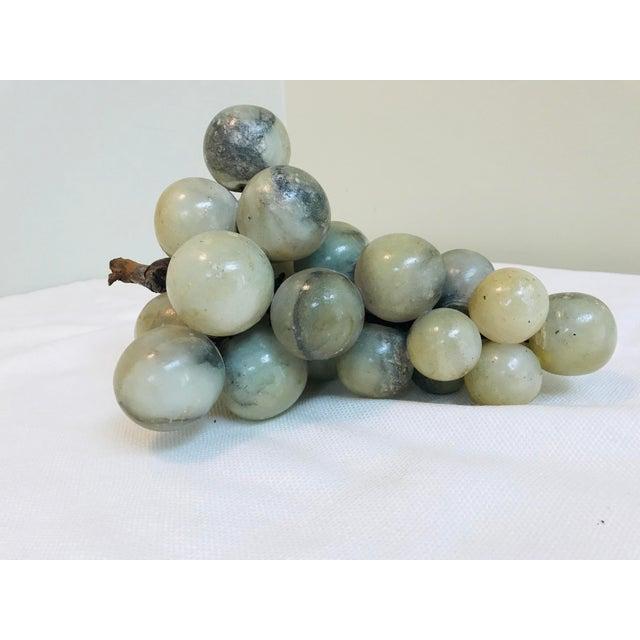 Vintage Green & Grey Marbled Alabaster Grape Cluster For Sale In Saint Louis - Image 6 of 7