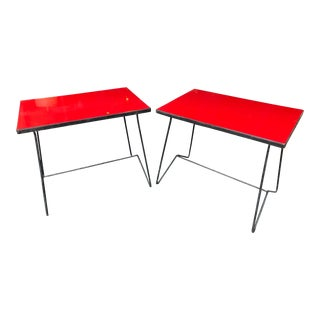 1950s Mid-Century Modern Tony Paul Lacquered Side Tables - a Pair For Sale