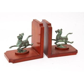 1950's Vintage Chinese Flying Horse of Kansu Mahogany Bookends for Smithsonian Institution - a Pair Preview