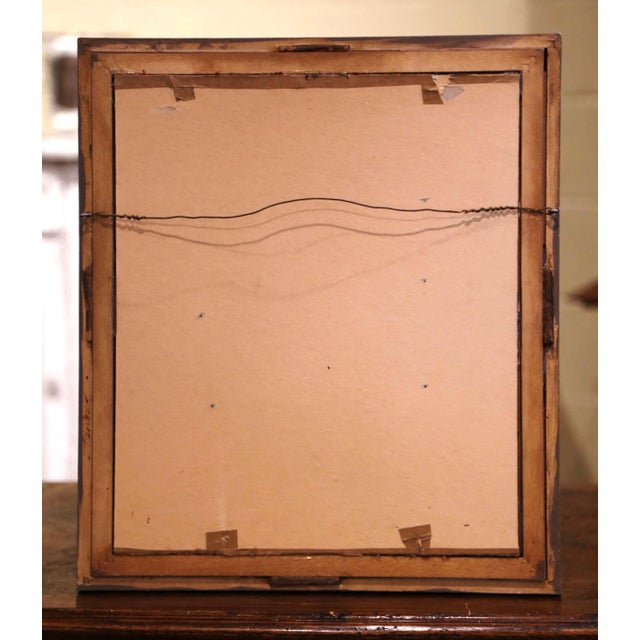 Wood 19th Century French Carved Walnut Royal Coat of Arms of Canada in Gilt Frame For Sale - Image 7 of 8
