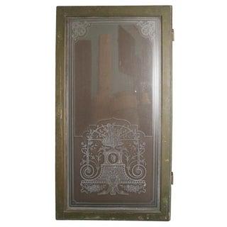 19th Century Venetian Glass Window Door