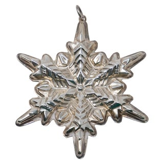 1972 Gorham Sterling Silver Snowflake Ornament For Sale