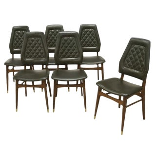 Danish Mid-Century Modern Dining Chairs- Set of 6 For Sale