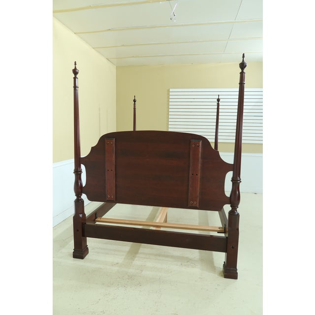 Stickley Queen Size Cherry High Back Poster Bed For Sale - Image 10 of 12