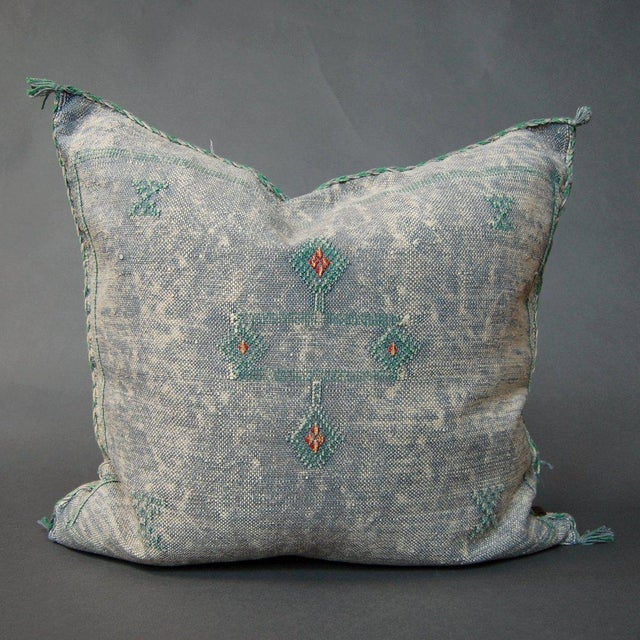 Pillows come stuffed with down insert. Each pillow is newly made and one-of-a-kind.