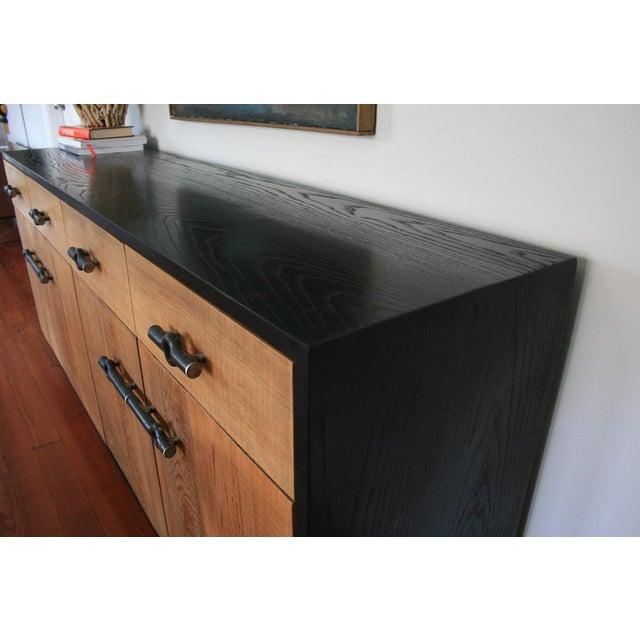 Rustic Industrial Franklin Credenza/Sideboard For Sale - Image 3 of 8