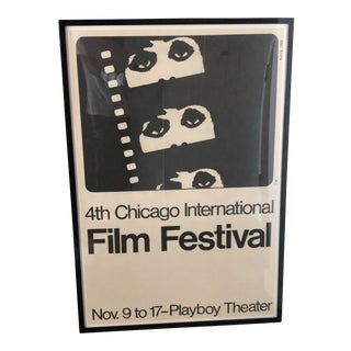 1968 Vintage Framed Original Chicago International Film Festival Poster For Sale