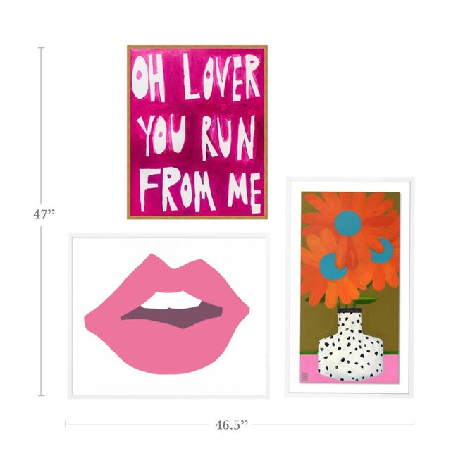 With the purchase of this item, you will be receiving the following prints, framed and ready to hang: 1. Oh Lover You Run...