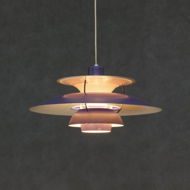 Danish Modern Louis Poulsen Ph5 Purple Pendant Lamp For Sale - Image 3 of 6
