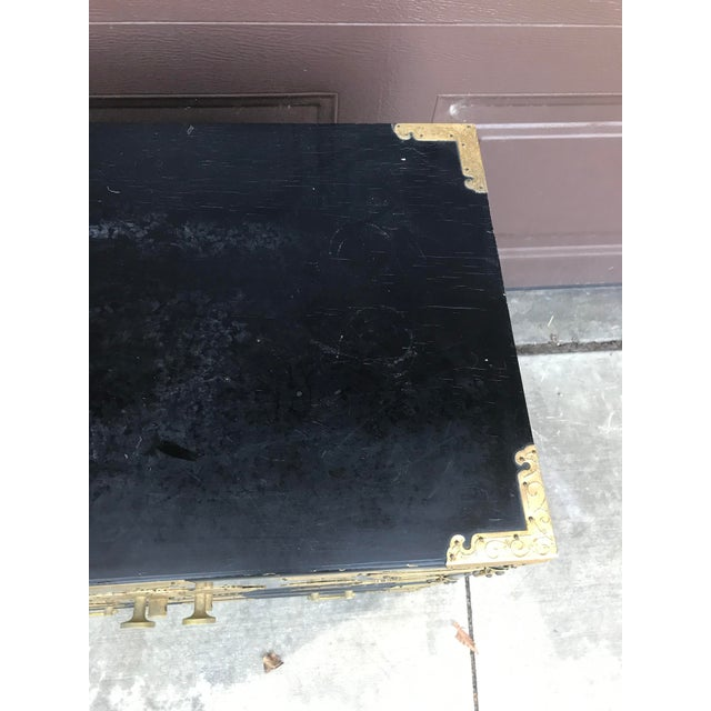 19th Century Antique Black Chinese Cabinet For Sale - Image 12 of 13