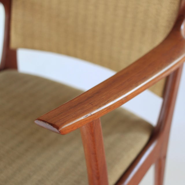 Brown Mid Century Danish Modern Johannes Andersen for Uldum Møbelfabrik Dining Chairs- A Pair For Sale - Image 8 of 11