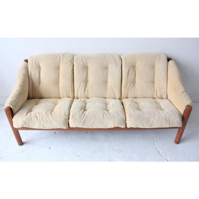 Vintage Mid-Century Modern Domino Mobler Tufted Sofa For Sale - Image 4 of 5