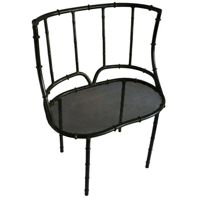 Metal Iron Faux Bamboo Settee For Sale - Image 7 of 7