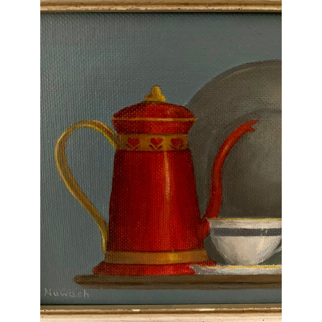 """2000 - 2009 Mid-Century Modern """"Breakfast"""" Acrylic Painting For Sale - Image 5 of 8"""
