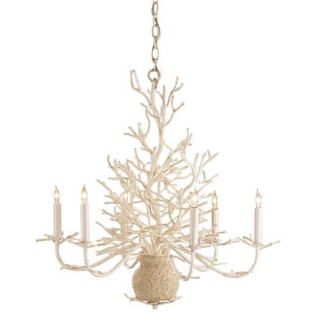 Nautical Currey & Company Seaward Chandelier For Sale - Image 3 of 3