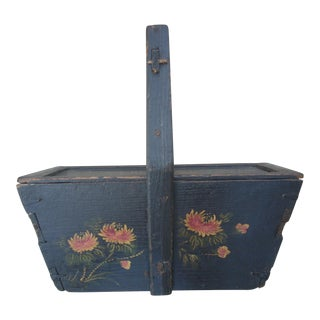 Antique Chinese Market Basket For Sale