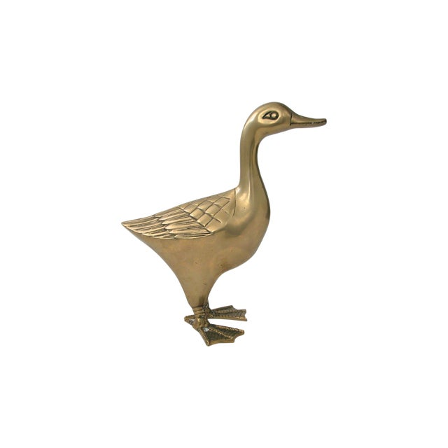 Large Brass Goose - Image 1 of 8