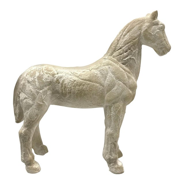 Mid-20th Century Vintage Plaster Model of Horse For Sale - Image 9 of 9
