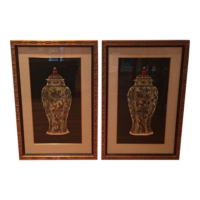 Framed Ginger Jar Prints - A Pair - Image 1 of 9