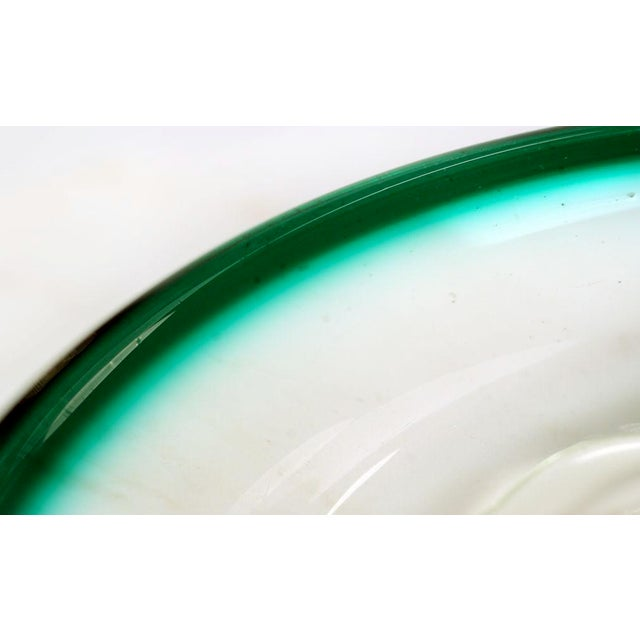 Glass Italian Glass 'Fish Bowl' Dish For Sale - Image 7 of 8