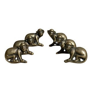 Brass Monkey Drawer Pulls - Set of 6 For Sale