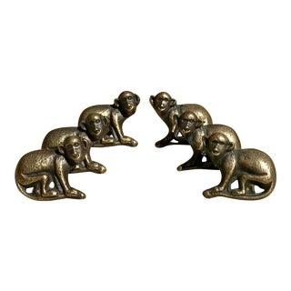 Brass Monkey Drawer Pulls - Set of 6 For Sale