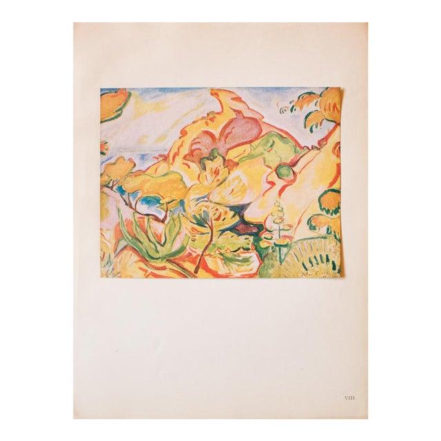 """1948 Othon Friesz, Original Period Lithograph """"Paysage a La Ciotat"""" For Sale"""
