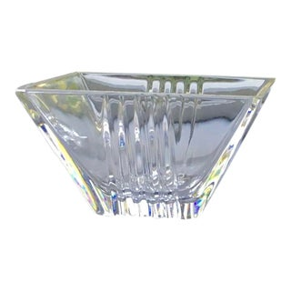 Late 20th Century Tiffany & Co. Art Deco Crystal Bowl For Sale