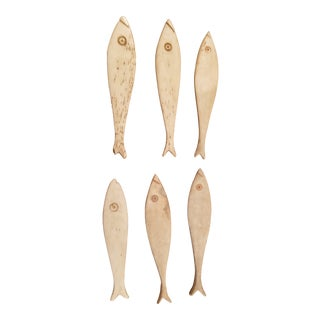 Set Victorian Bone Caviar Spoons For Sale